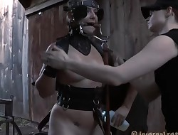 Chained cutie wants gonzo torturing for her cunt
