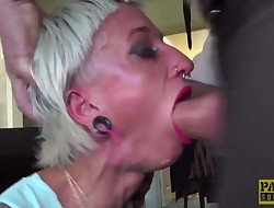 Submissive British bimbos mouth and vag rough disciplined