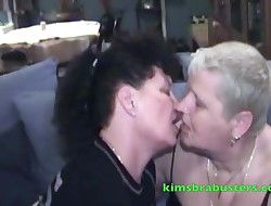 Grannie Kim fisting her dyke girlfriend