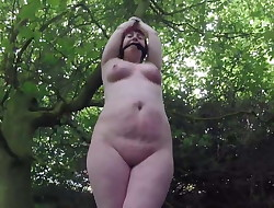 Outdoor Naked Bondage in the woods